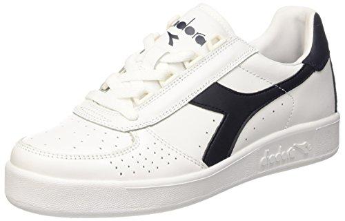 Diadora B. Elite, Sneaker a Collo Basso Unisex - Adulto, Bianco (Bianco/Blu Profondo/Blu Profon), 39 EU