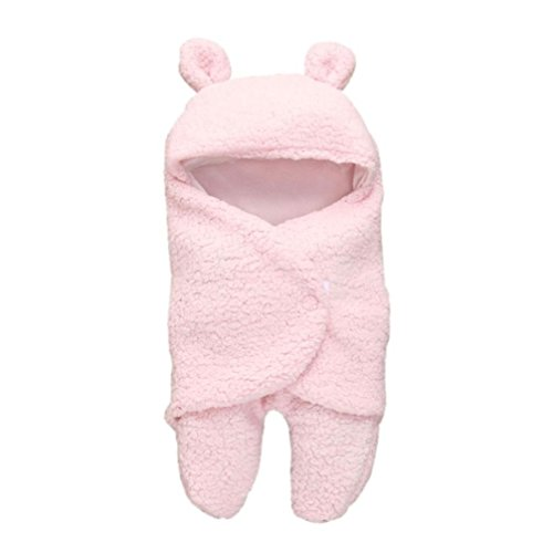 Baby Swaddle, SHOBDW Baby Boy Girl Cute Sleeping Wrap Bath Blanket Photography Prop Quilt Newborn Infant Gifts (0-1 Years, Pink)