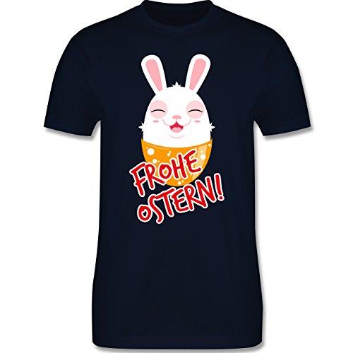 Ostern - Frohe Ostern - Osterhase - Herren Premium T-Shirt Navy Blau