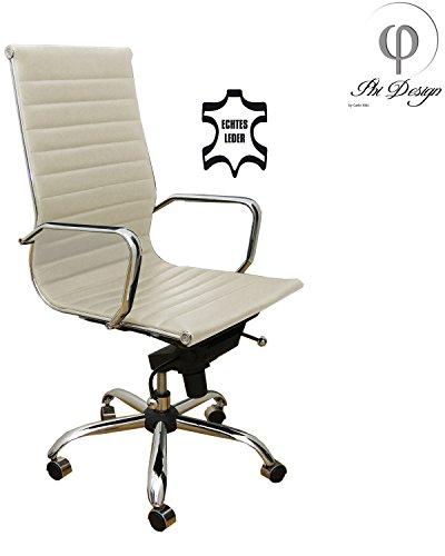 ss ECHT LEDER Schreibtischstuhl Drehstuhl Chefsessel Stuhl Sessel Alpha Elegance ()