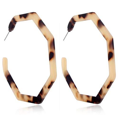 Ohrringe Crystal Diamant Quaste Klassische Natur Modern Minimalismus Geschenk Vintage Leopard Acetat Harz Geometrische Große Polygonalen Ohrring Für Frauen Modeschmuck Acryl Schildpatt Pendientes