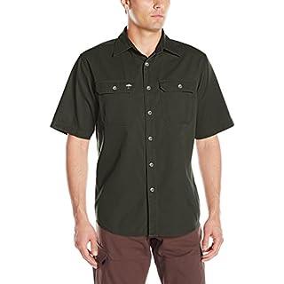 Arborwear Men's Short Sleeve Ground Work Shirt, Moss, Large