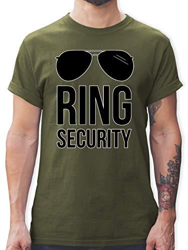 Hochzeit - Ring Security Brille - L - Army Grün - L190 - Tshirt Herren und Männer T-Shirts