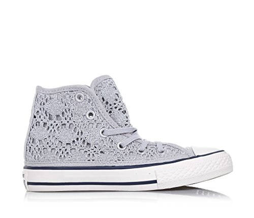 Converse Ctas Hi femmes, toile, sneaker low Argent