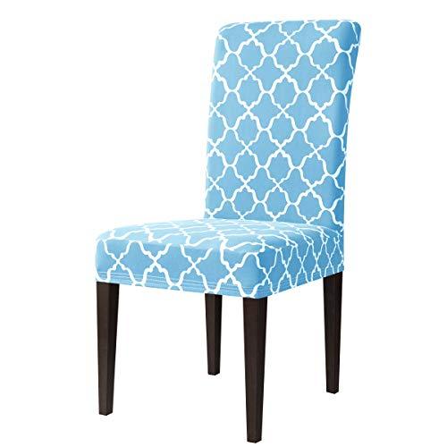 Subrtex coprisedie con schienale modern stampa copertura della sedia da pranzo, copertura protettiva universale elasticizzato rimovibile lavabile (2 pezzi, cielo blu)