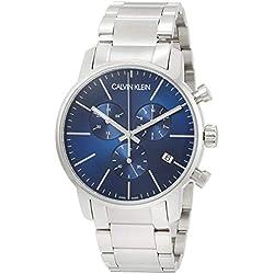Calvin Klein Reloj de Cuarzo para Hombre con Correa de Acero Inoxidable Chapado - K2G2714N