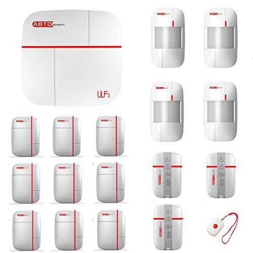 SZABTO komplettes drahtloses GSM Home Security Alarmanlage als Einbruchschutz Sicherheit durch Bewegungsmelder und Türsensoren (B)