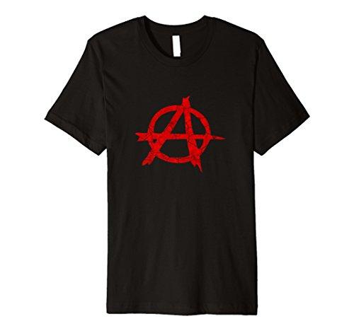 Anarchie Distressed Symbol | anarchistischer, Punk, Riot T-Shirt (Anarchie-shirt Für Frauen)