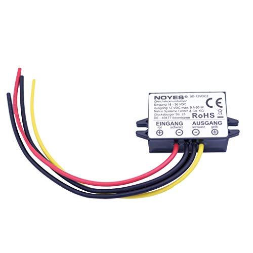 Spannungswandler 24V 36V DC auf 12V DC max. 5A 60W Konverter Stepdown LKW Adapter (Lkw-details)