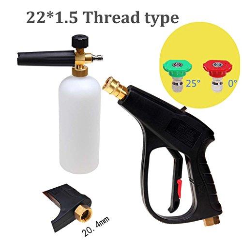 Car wash supplies Roscloud@ Blasen-Sprayer-Hochdruckautowäscher-Schaum-Topf-Ausgangswasser-Gewehr-Kopf stellte hohen Schaum-reichen und empfindlichen ein (Farbe : With 22*1.5mm)