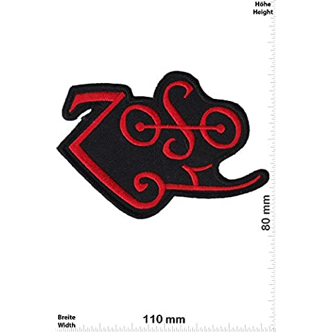 Patch - ZoSo - Led Zeppelin - red - Musicpatch - Rock - Vest - Chaleco - toppa - applicazione - Ricamato termo-adesivo - Give Away