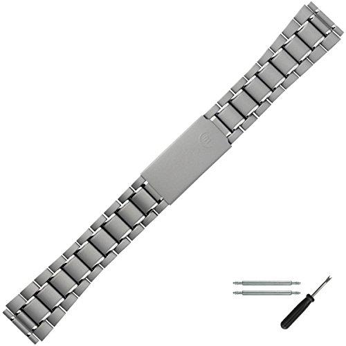MARBURGER Uhrenarmband 18mm Edelstahl Grau - Uhrband Set 86202110020 (20mm Uhrenarmband Titan)