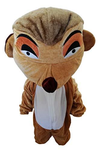 Ikumaal Erdmännchen-Kostüm, Su02 Gr. 104-110, für Kinder, Erdmännchen-Kostüme für Fasching Karneval Fastnacht Fasnet Klein-Kinder Karnevalskostüme, Kinder-Faschingskostüme, (Kuschelige Löwen Mädchen Kostüm)