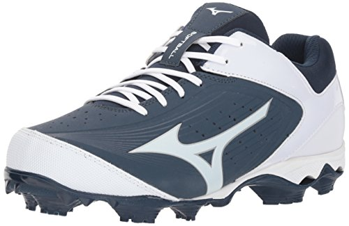 Mizuno Womens Cleat 9-Spike Advanced Finch Elite 3 Fastpitch Softball, Damen, Stollen, Marineblau/weiß, 41 EU (Softball Elite)
