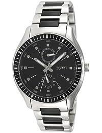 Esprit Herren-Armbanduhr XL Vista Silver Black Analog Quarz Edelstahl ES105632003
