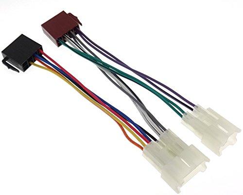 bel Stecker DIN Autoradio Kabelbaum kompatibel mit Toyota Daihatsu Lexus VAG ()