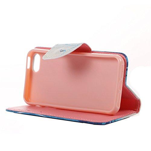 AYASHO® iPhone SE / 5s / 5 Hülle - Hohe Qualität Gemalt PU Kunst Lederhülle Tasche Hülle Kunstleder Flip Case Tasche Etui Schutzhülle für iPhone SE / iPhone 5 / iPhone 5S (A13) A07