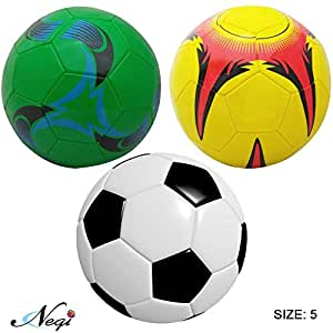 Negi Football Size-5 ( Any one ) Colors & Print May Vary (Football Size-5)