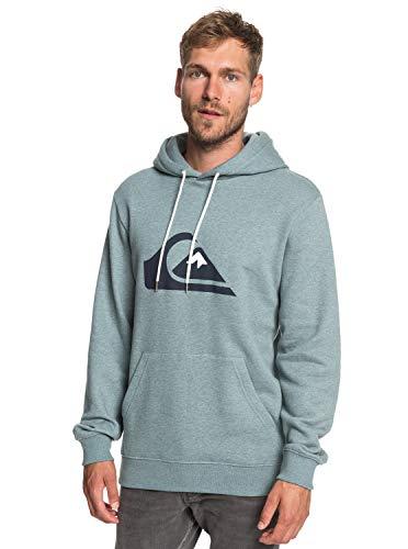Quiksilver Herren Big Logo Hood Fleece Top Stormy Sea Heather L