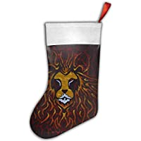 False warm warm Yellow and Red Lion Painting Personalized Christmas Hanging Stockings Bag Socks Christmas Tree Decoration Custom Gifts (Christmas Tree Decoration)
