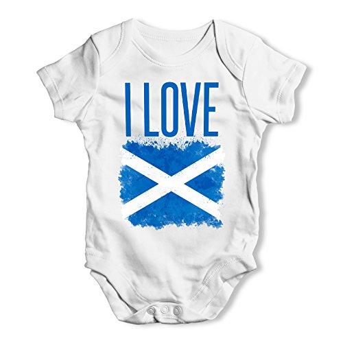TWISTED ENVY Love Scotland Baby Unisex Baby Grow Bodysuit