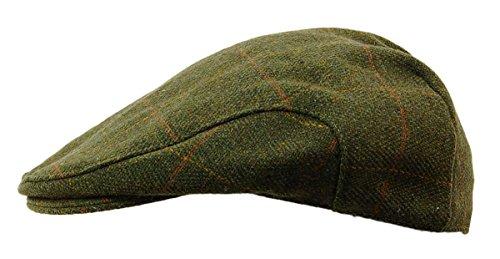 Flache Tweed-Mütze, erstklassiger schottischer Tweed, Teflon-beschichtet, Bauern,...