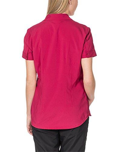 Jack wolfskin track chemise pour femme Azalea Red