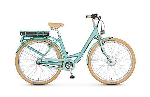Prophete E-Bike 28 Zoll Flair e | Vorderradmotor | 36 V | Anfahrhilfe | 250 W | Samsung Lithium-Ionen Akku | 13,7 Ah | ca. 130 km | Rahmenhöhe 50 cm | Farbe Polar Sky | Damen | Smartphone Steuerung