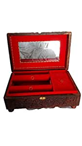 Maruti Wooden Jewellery Box - (32 x 20.2 x 11.5 cm, Multicolor)