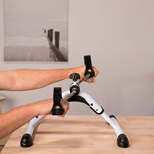 Ultrasport Mini-vélo d'appartement MPE 25 pliable, pour le renforcement des bras et des jambes: idéal pour se muscler et travailler l'endurance à la maison ou au bureau, résistance réglable