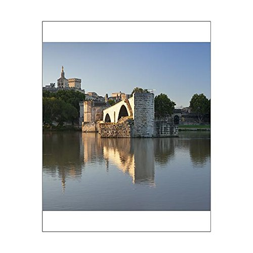 20x16 Print of Bridge St. Benezet over Rhone River with Papal Palace behind, UNESCO World (11780525)