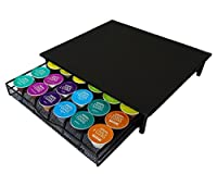 Homiso - 36 Dolce Gusto Coffee Pod Capsule compatible Storage Holder & Machine Stand. Strong Steel Frame Stand. Storage Container with Tray Drawer Organiser Rack: Black Frame