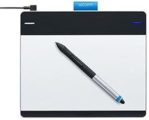 Wacom CTH-480M-N Intuos Manga Stift-Tablett (Multi-Touch, 1024 Druckstufen, Express-Keys, ) Größe S inkl. Stift (inklusive Radierer), Sprachversion DE/EN/NL schwarz/silber
