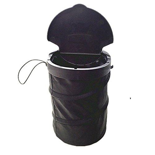 Auto Mülleimer mit Deckel,Faltbar Aufbewahrungstasche Wasserabweisend,Kfz Garbage Container,Wiederverwendbare Mülltonne,Abfallbehälter für Auto, Groß Kapazität