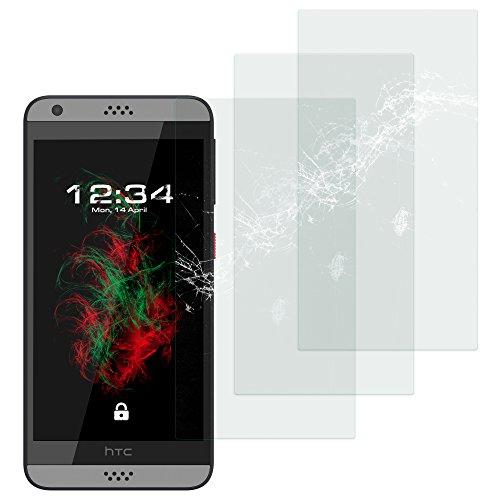 Baluum 3x Glasfolie für HTC Desire 630 Klare Bildschirmschutzfolie 9H Echt Glas-folie Clear Tempered Glass Screen protector Glas Durchsichtige Schutzfolie für HTC Desire 630 (Glasfolie-Klar 3x)
