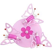 Elobra Kinder Lampe Rondell Falter Deckenleuchte Kinderzimmer Holz,rosa 122839