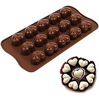Molde de silicona con forma de corazón para bombones, bombones y chocolate, decoración de