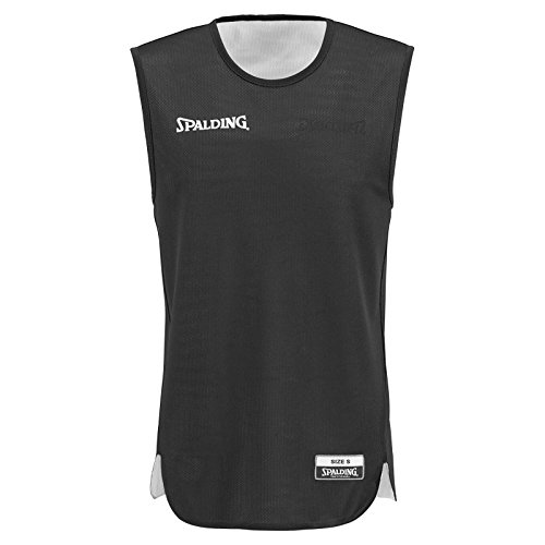 Spalding Kinder Trikot Doubleface Set, 300401003, schwarz (Schwarz/Weiß), Gr. XS/152 (3 4 Sleeve Shirt-logo)