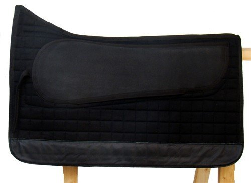 Spezielles Sattelpad LUXUS Western für baumloser Sattel, Farbe:Schwarz