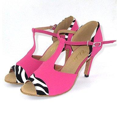 Scarpe da ballo Donna - Latinoamericano / Salsa / Scarpe standard - Customized Heel - Suede - Nero / Rosa Pink