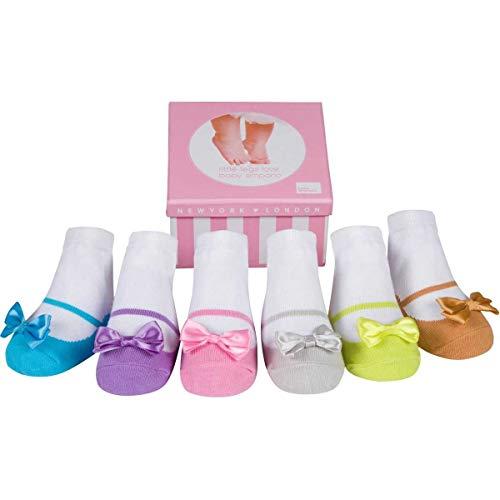 Lavendel-kleid-schuhe (Baby Mädchen Socken die wie Schuhe aussehen-6 Paar-Weiche Baumwolle-Neugeborenes Geschenk)