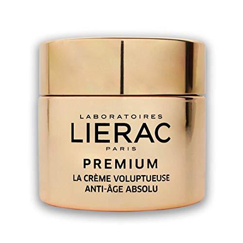 Lierac Premium La Crème Voluptueuse Edizione Speciale Oro, Crema Viso Ricca, Anti-Età Globale con Acido Ialuronico, Rughe profonde, perdita di densità, rilassamento, per Pelle Secca. Formato da 50ml