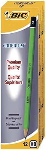 BIC Criterium 550 Crayons à Papier - HB, Boîte de 12