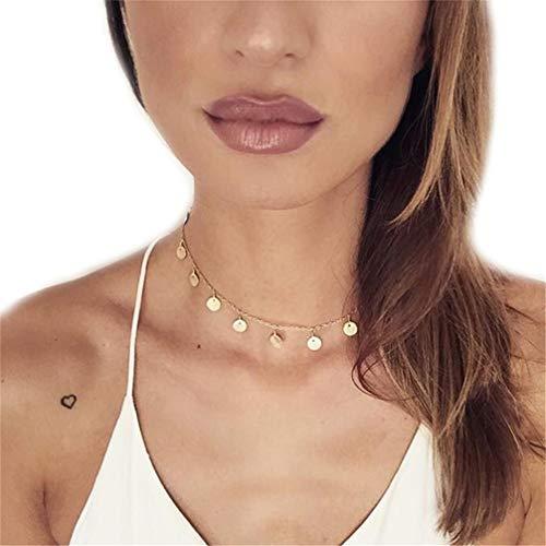 Toporchid Damen Halskette Beads Halskette Kette Geschenk für Frauen Mädchen Mutter Freundin (Gold)