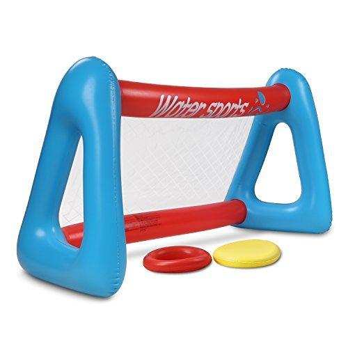 HeySplash Wasserspiel Pool Inflatable Flying Disc Set, 100 x 70 x 53 - Frisbee Große Extra