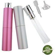 Atomizador de Perfume, Morbuy 2 Colores Mini Portátil Vacía Pulverizador Frascos Dosificador Recargable de Perfume