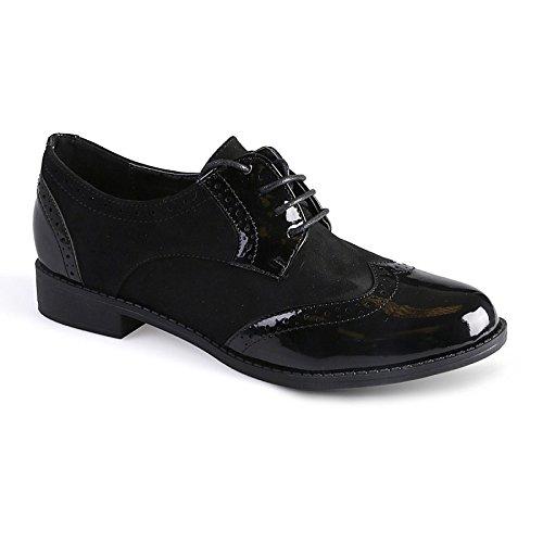La Modeuse - Derbiesbi matière (simili cuir et daim) noir Noir