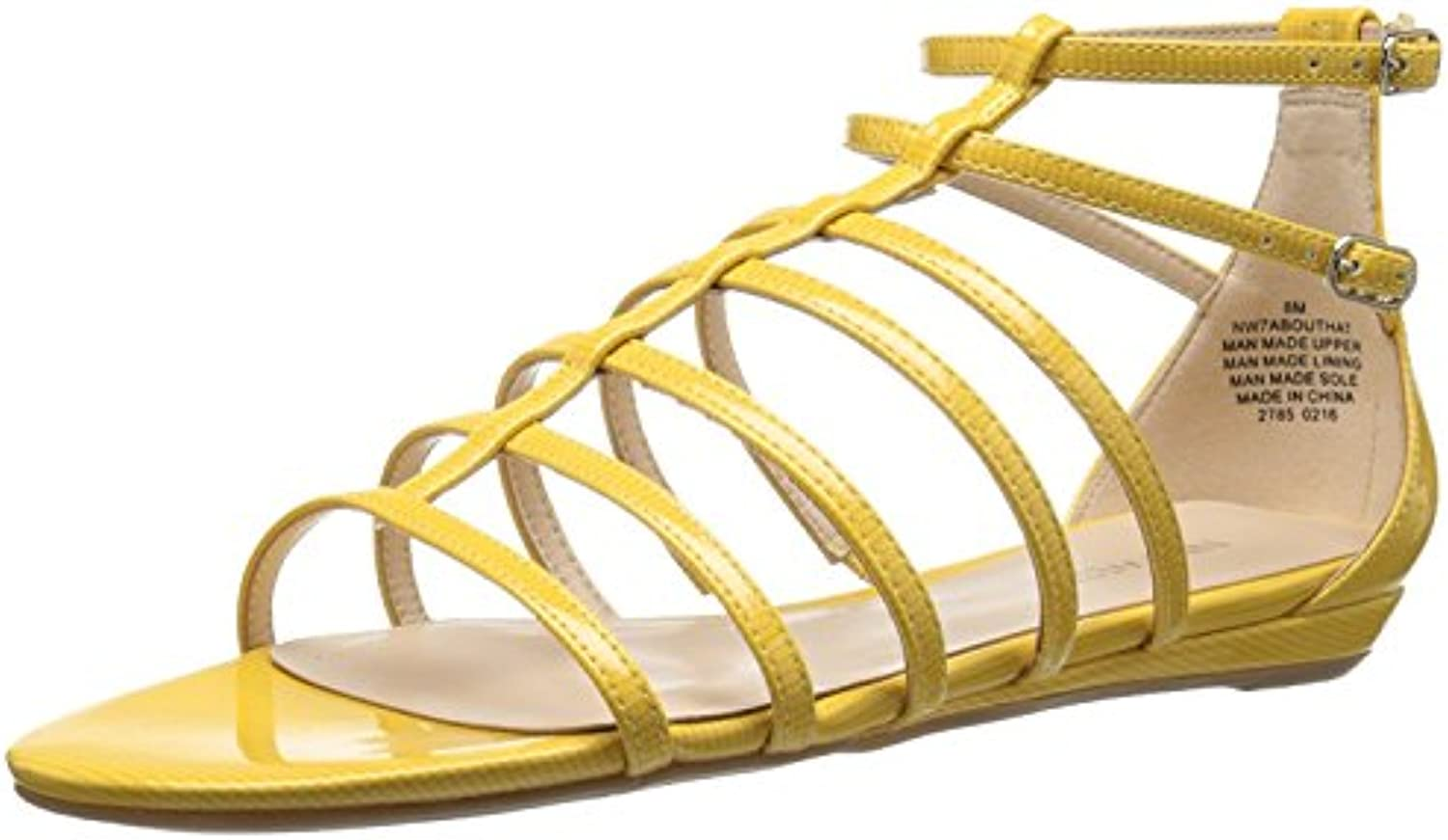 Nine West Women'S Aboutthat Synthetic Dress Sandal, Yellow Synthetic, 36 B(M) EU/4 B(M) UK