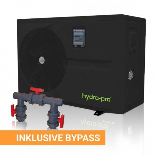 Hydro-Pro Wärmepumpe ABS Schwarz + Bypass Durchfluss 2,8, Typ 10