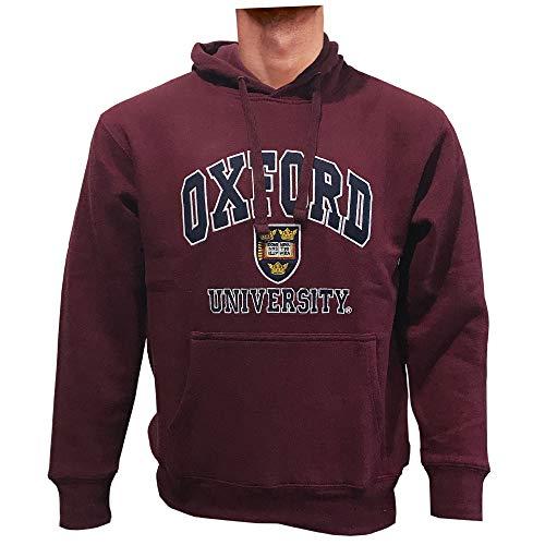 Oxford University Qualität Bestickt Sweatshirt mit Kapuze-Unisex-Burgund Farbe Gr. Small, Burgunderrot